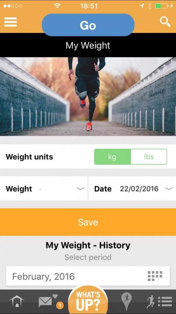 RunnerSquare Weight Monitoring